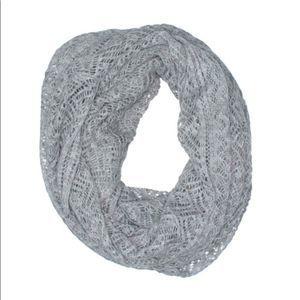 H&M crochet lace knit infinity scarf